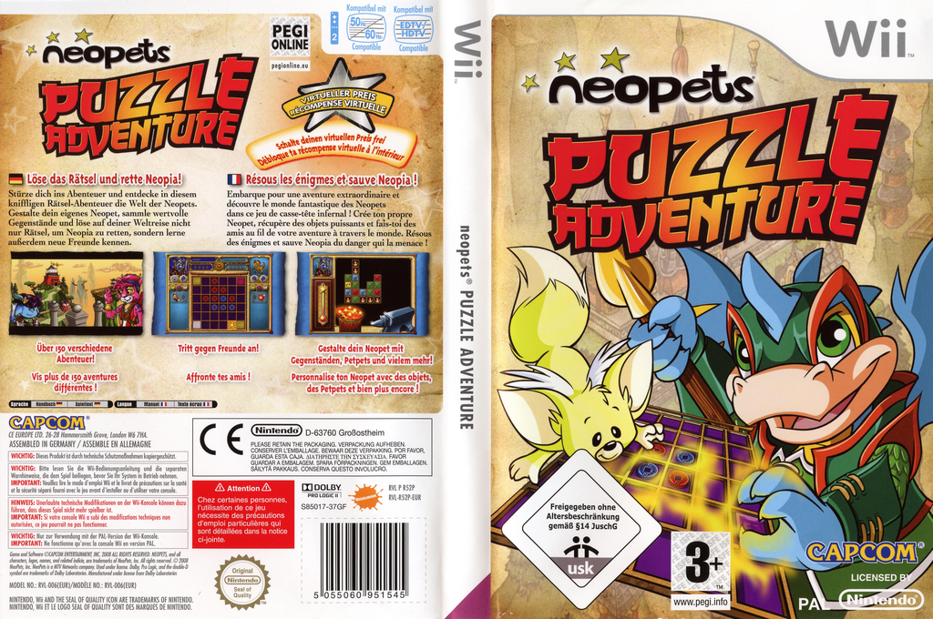 Neopets Puzzle Adventure Wii coverfullHQ (R52P08)