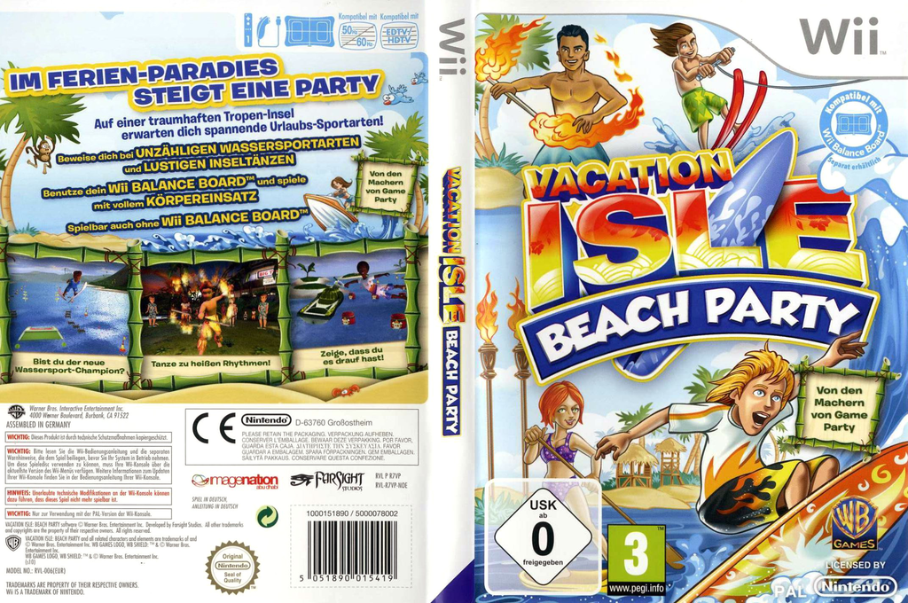 Vacation Isle: Beach Party Wii coverfullHQ (R7VPWR)
