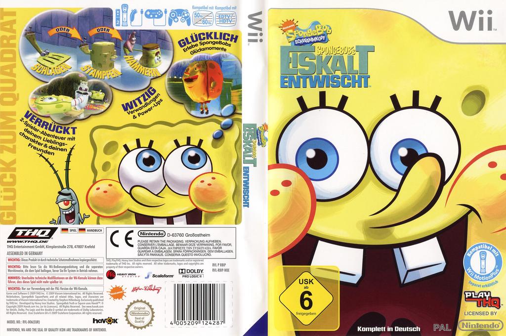 SpongeBob's Eiskalt Entwischt Wii coverfullHQ (R8IP78)