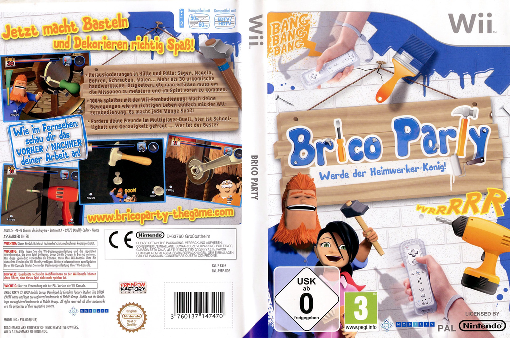 Brico Party: Werde Heimwerker-König Wii coverfullHQ (R9EPNP)