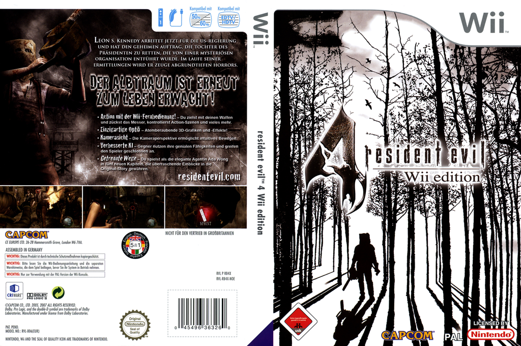 Resident Evil 4: Wii Edition Wii coverfullHQ (RB4X08)