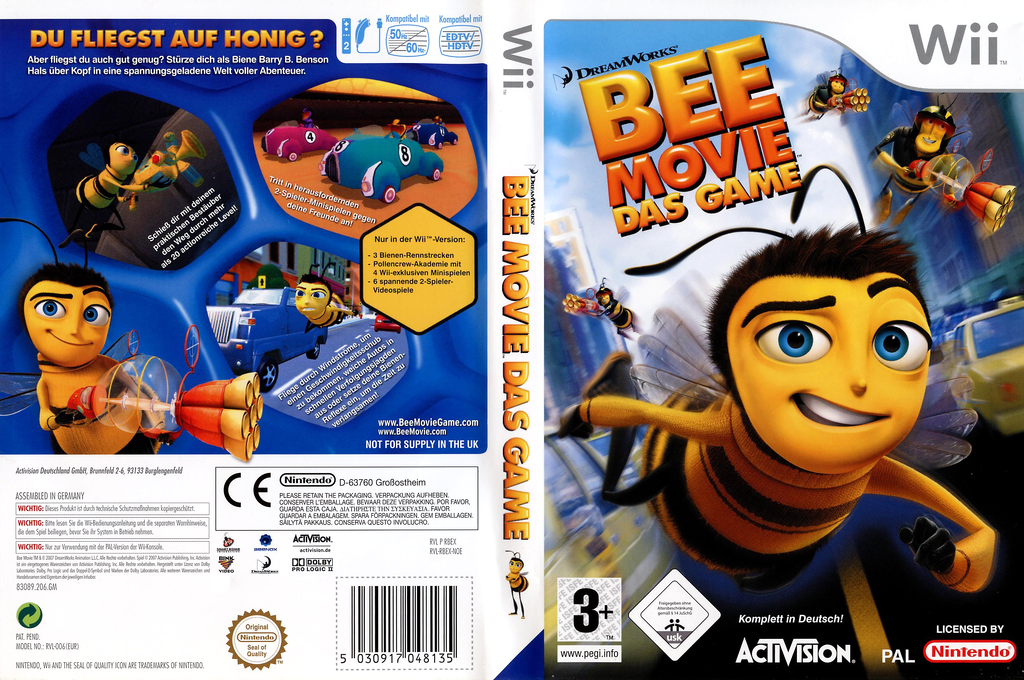 Bee Movie: Das Game Wii coverfullHQ (RBEP52)