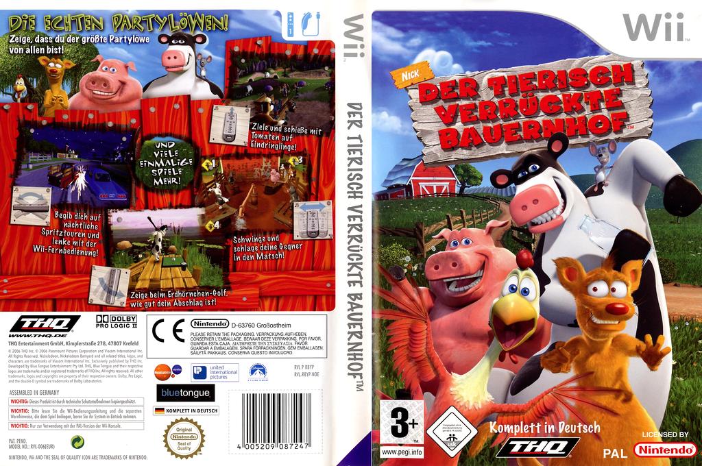 Der tierisch verrückte Bauernhof Wii coverfullHQ (RBYP78)