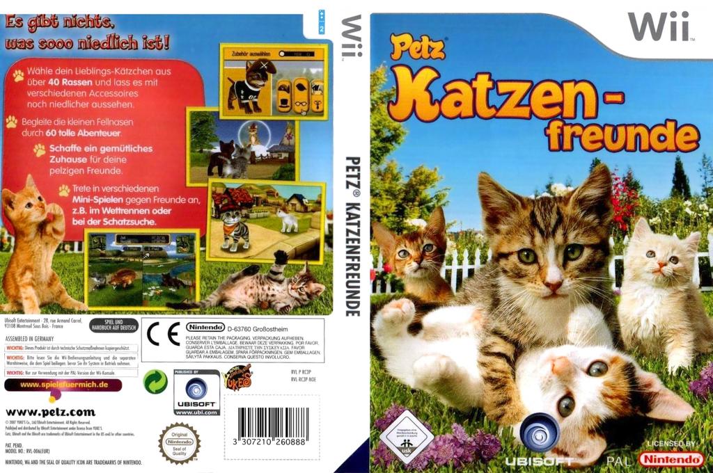 Petz: Katzenfreunde Wii coverfullHQ (RC3P41)