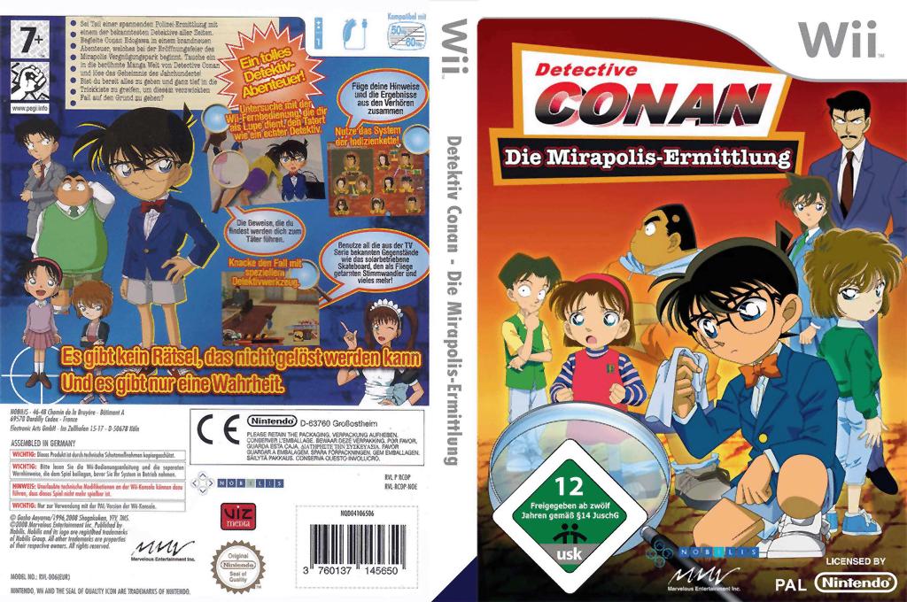 Detective Conan - Die Mirapolis Ermittlung Wii coverfullHQ (RCOPNP)