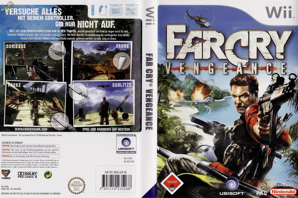 Far Cry: Vengeance Wii coverfullHQ (RCVP41)