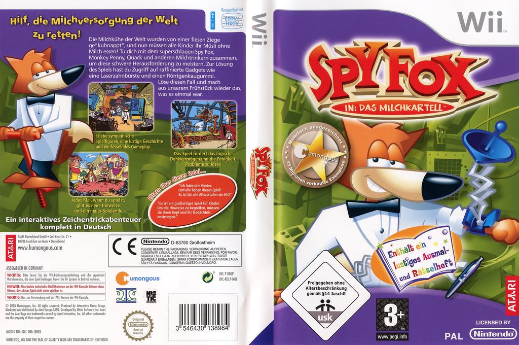 Spy Fox: Das Milchkartell Wii coverfullHQ (RDLP70)