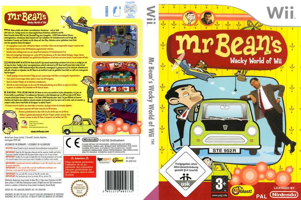 Mr. Bean's Wacky World of Wii Wii coverfullHQ (REBPMT)
