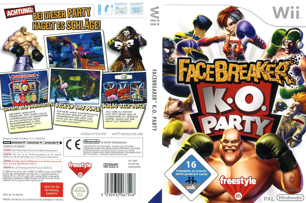FaceBreaker: K.O. Party Wii coverfullHQ (RFQP69)
