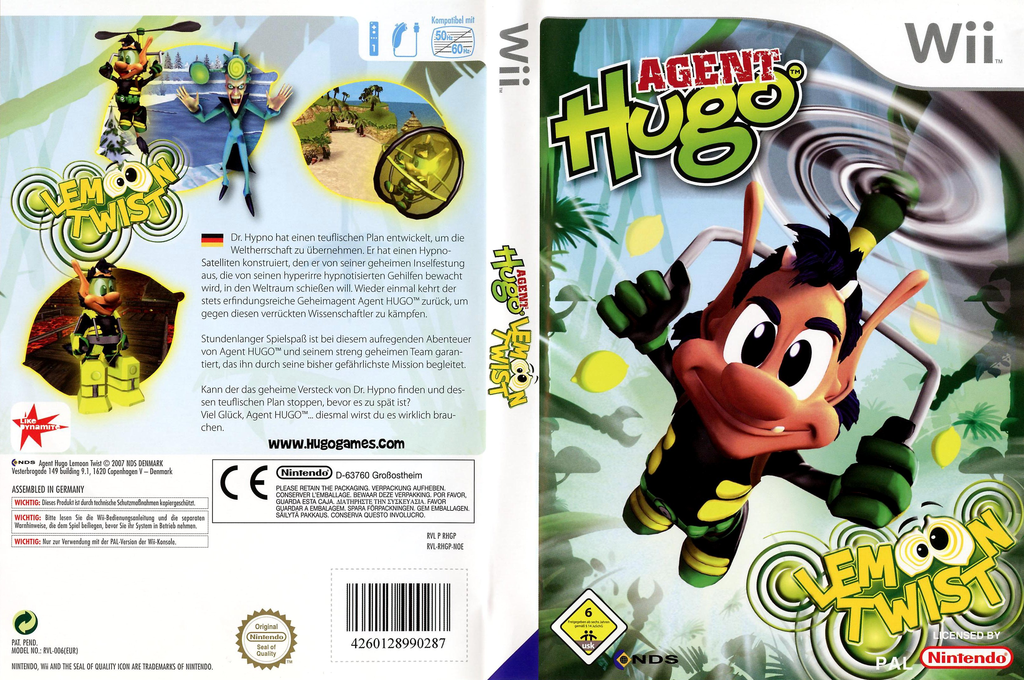 Agent Hugo: Lemoon Twist Wii coverfullHQ (RHGP6Z)