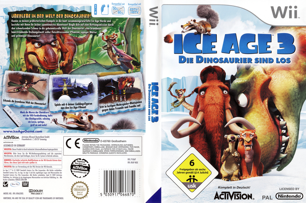 Ice Age 3: Die Dinosaurier sind los Wii coverfullHQ (RIAP52)
