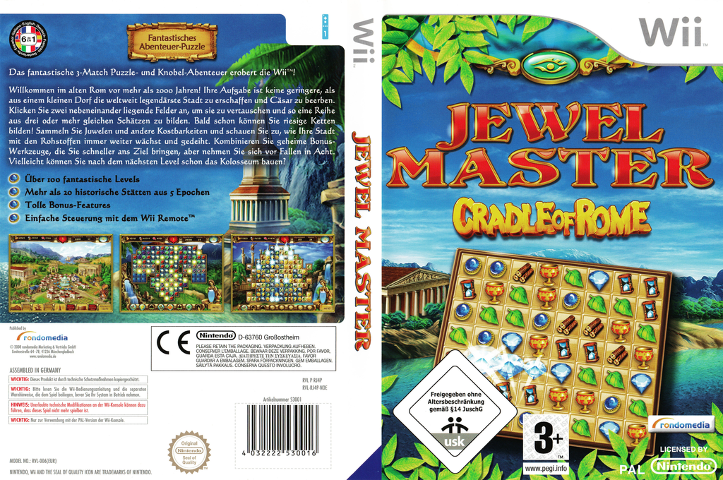 Jewel Master: Cradle of Rome Wii coverfullHQ (RJ4PRM)