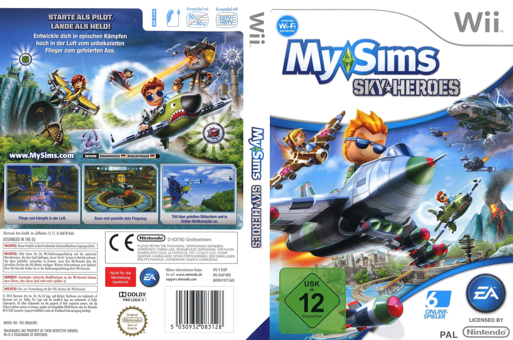 MySims Sky Heroes Wii coverfullHQ (RJ6P69)