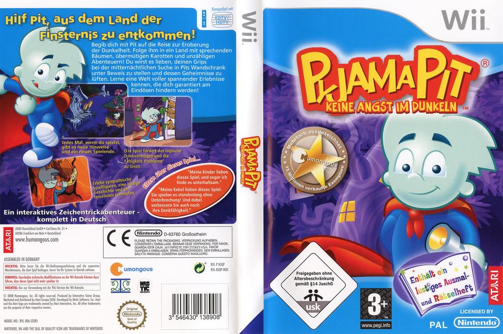 Pyjama Pit: Keine Angst im Dunkeln Wii coverfullHQ (RJQP70)
