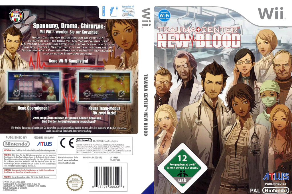Trauma Center: New Blood Wii coverfullHQ (RK2P01)