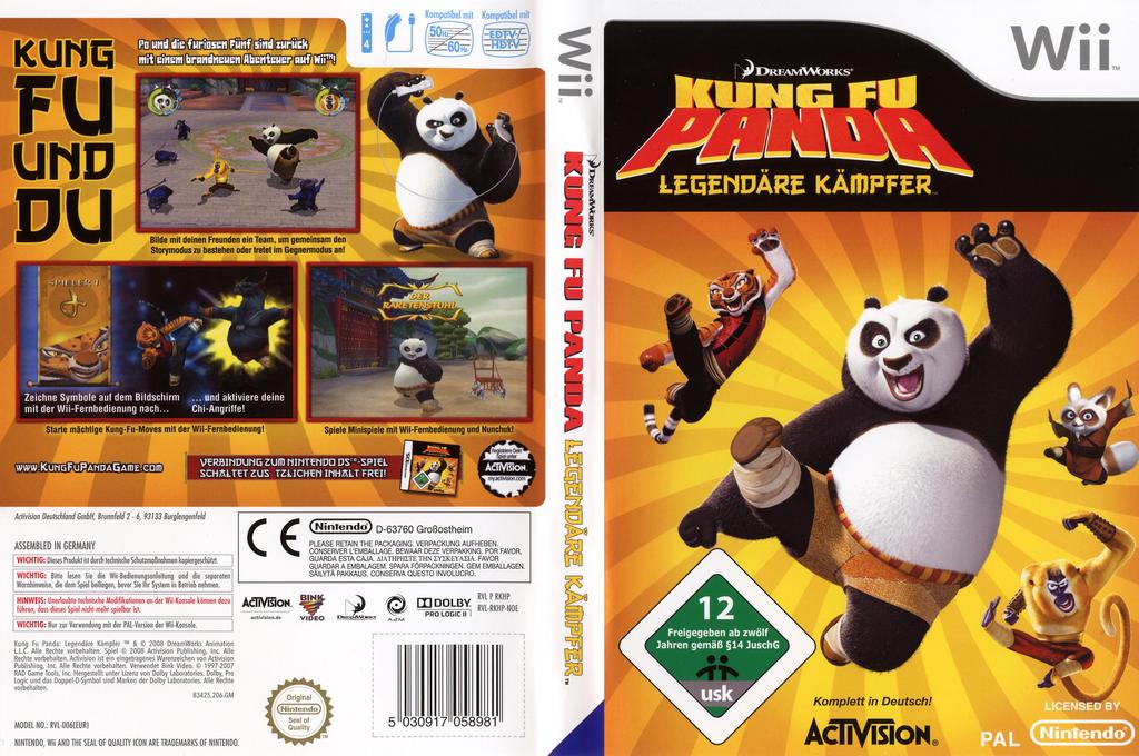 Kung Fu Panda: Legendäre Kämpfer Wii coverfullHQ (RKHP52)
