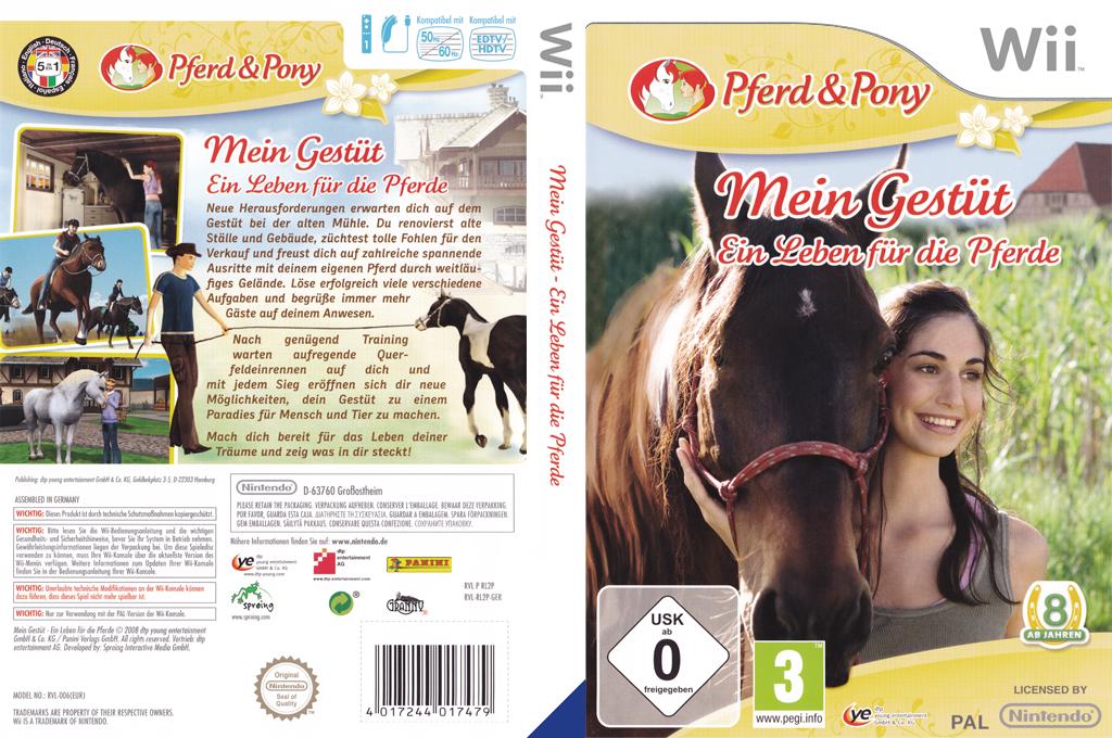 Pferd & Pony: Mein Gestüt - Ein Leben für die Pferde Wii coverfullHQ (RL2PFR)