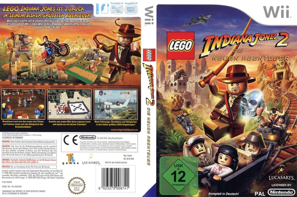 LEGO Indiana Jones 2: Die neuen Abenteuer Wii coverfullHQ (RL4P64)