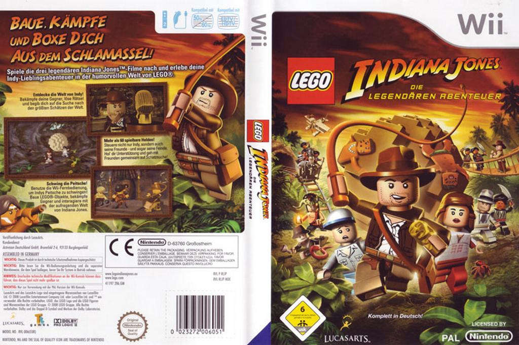 LEGO Indiana Jones: Die legendären Abenteuer Wii coverfullHQ (RLIP64)