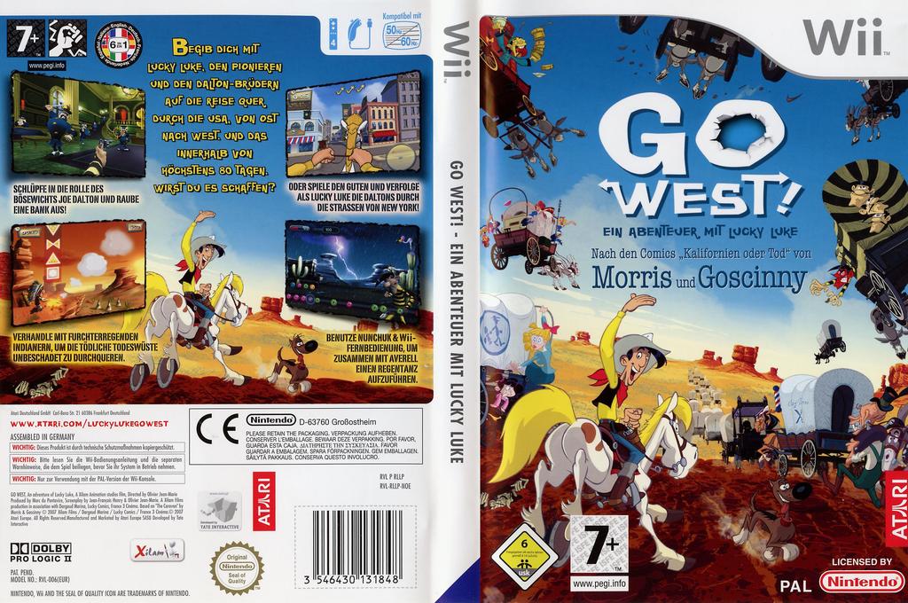 Go West!: Ein Abenteuer mit Lucky Luke Wii coverfullHQ (RLLP70)