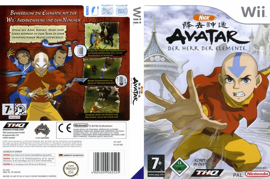 Avatar - Der Herr der Elemente Wii coverfullHQ (RLVP78)