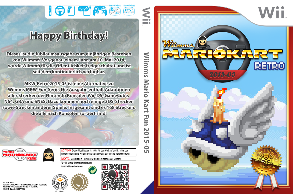 Wiimms MKW Retro 2015-05.pal Wii coverfullHQ (RMCP28)