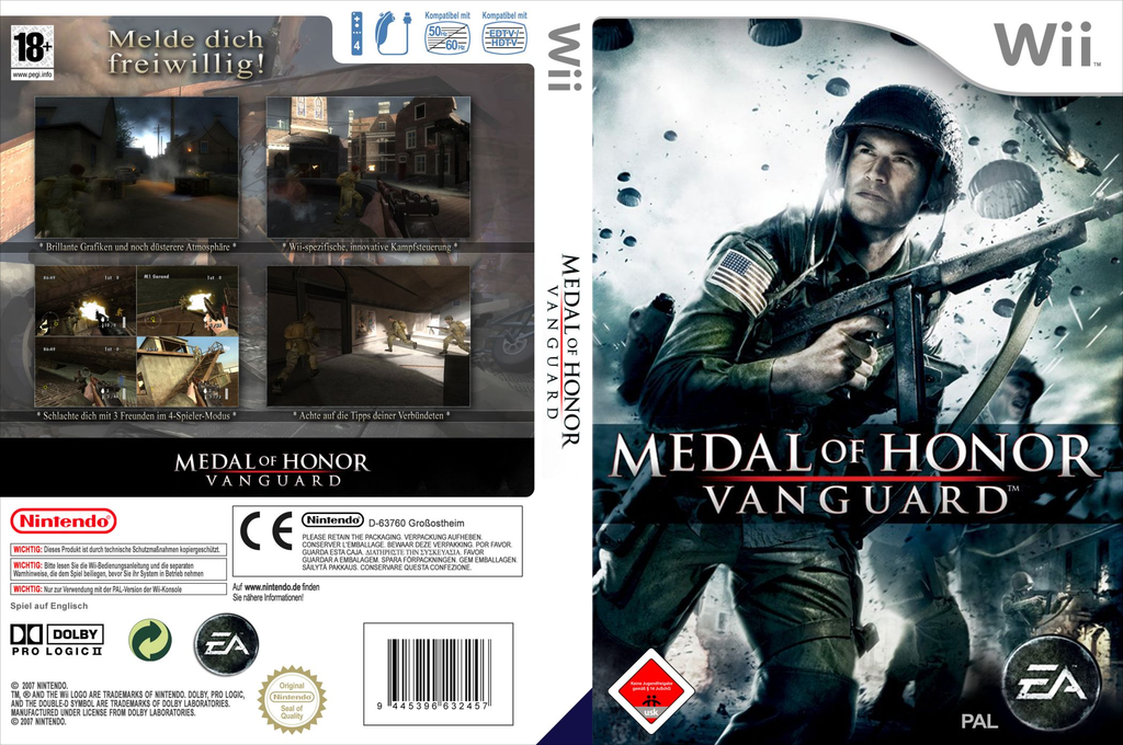 Medal of Honor: Vanguard Wii coverfullHQ (RMVX69)