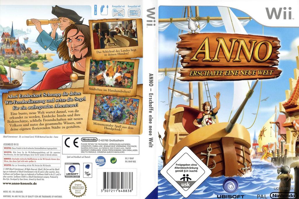 ANNO: Erschaffe eine neue Welt Wii coverfullHQ (RN4P41)