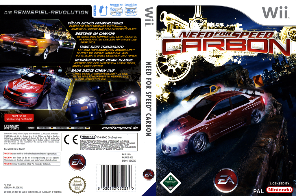 Need for Speed: Carbon Wii coverfullHQ (RNSD69)