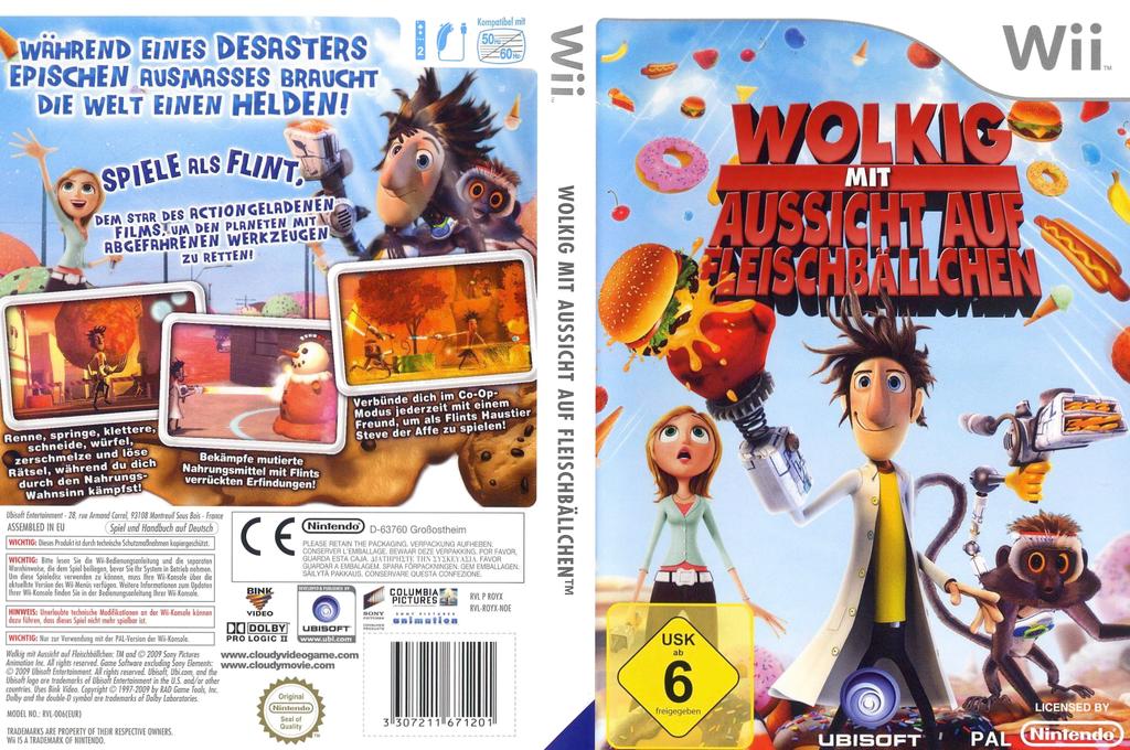 Wolkig Mit Aussicht Auf Fleischbällchen: Das Videospiel Wii coverfullHQ (ROYP41)