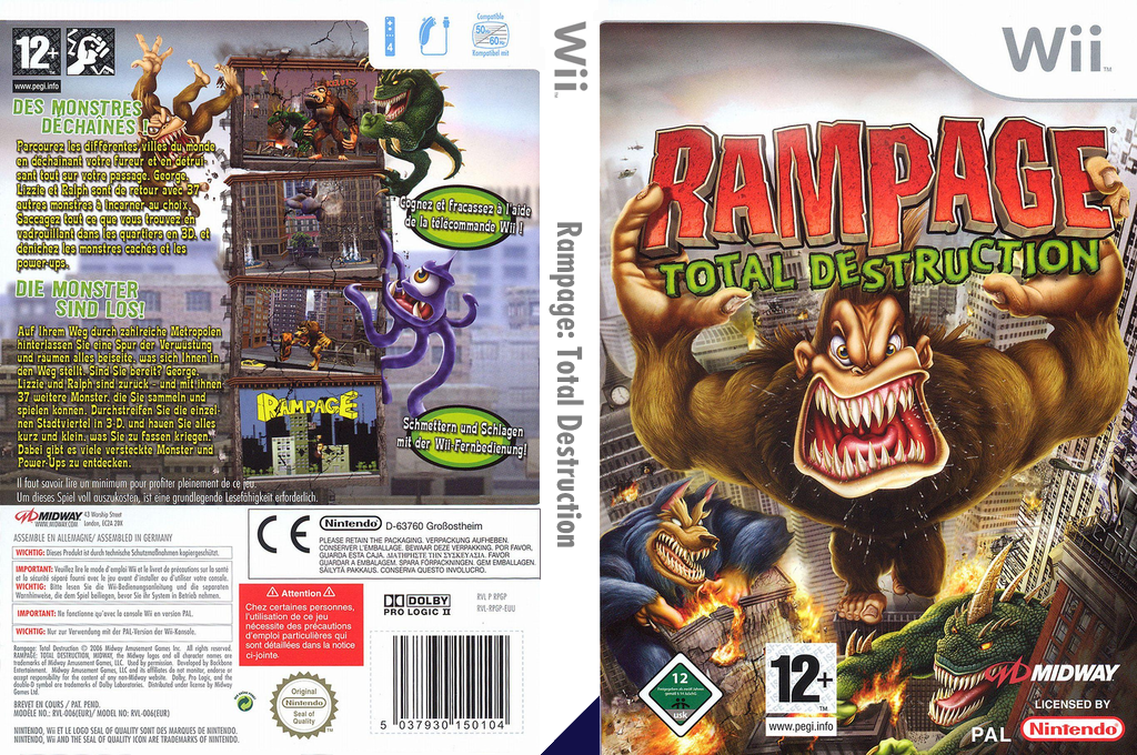 Rampage: Total Destruction Wii coverfullHQ (RPGP5D)