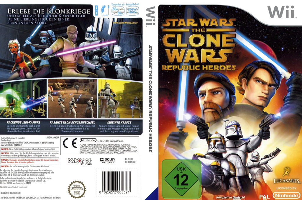 Star Wars The Clone Wars: Republic Heroes Wii coverfullHQ (RQLP64)