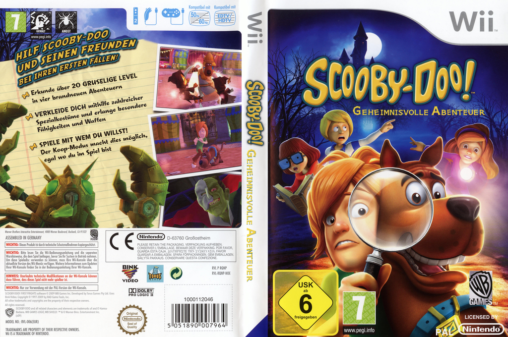 Scooby-Doo! Geheimnisvolle Abenteuer Wii coverfullHQ (RQNPWR)
