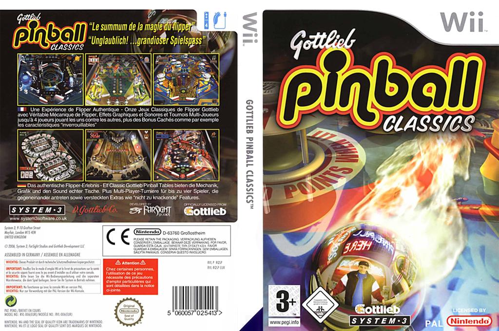 Gottlieb Pinball Classics Wii coverfullHQ (RQSP6M)
