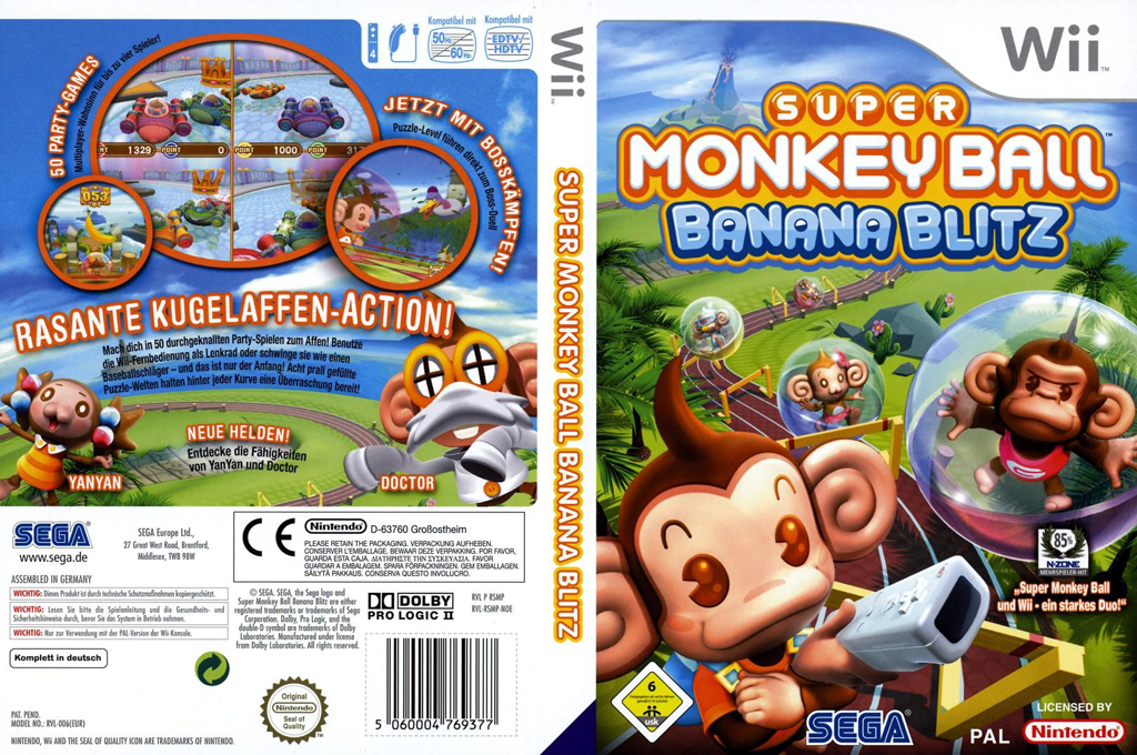 Super Monkey Ball: Banana Blitz Wii coverfullHQ (RSMP8P)