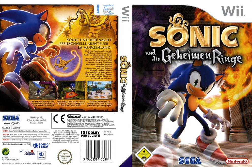 Sonic und die Geheimen Ringe Wii coverfullHQ (RSRP8P)