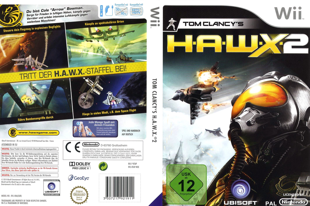 Tom Clancy's H.A.W.X. 2 Wii coverfullHQ (RTAP41)