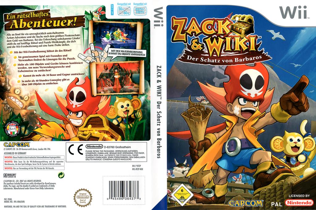 Zack & Wiki: Der Schatz von Barbaros Wii coverfullHQ (RTZP08)