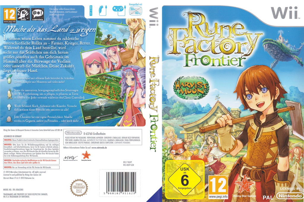 Rune Factory Frontier Wii coverfullHQ (RUFP99)