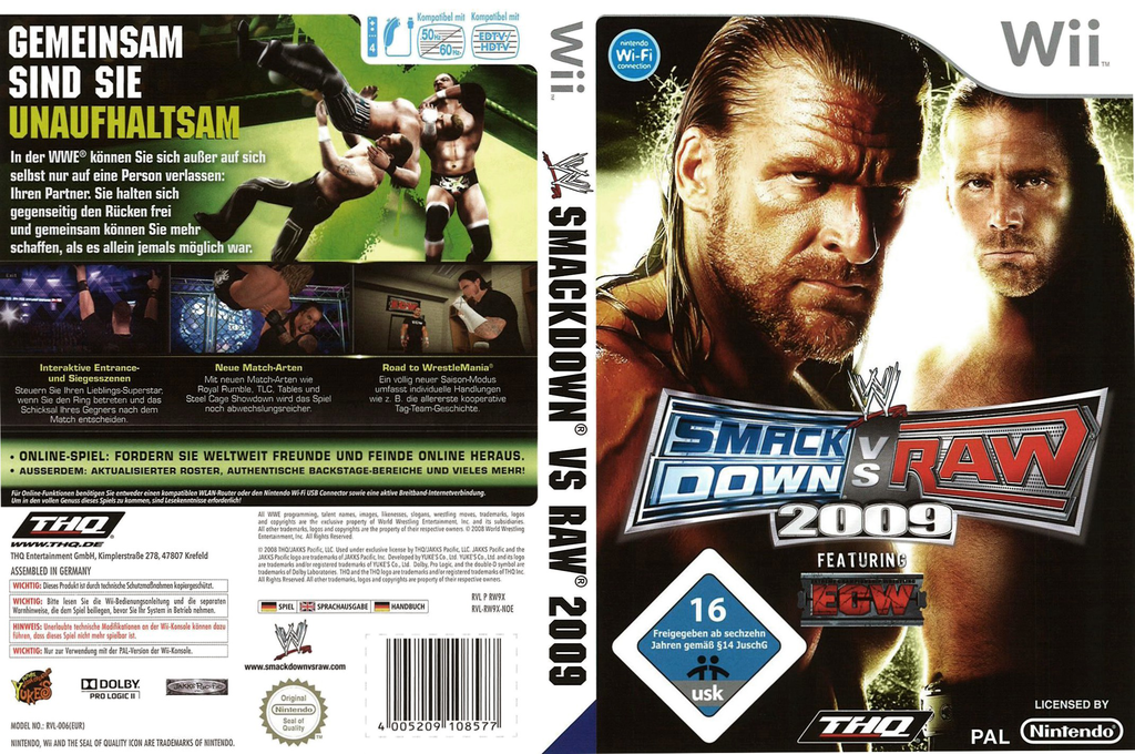 WWE SmackDown vs. Raw 2009 Wii coverfullHQ (RW9X78)