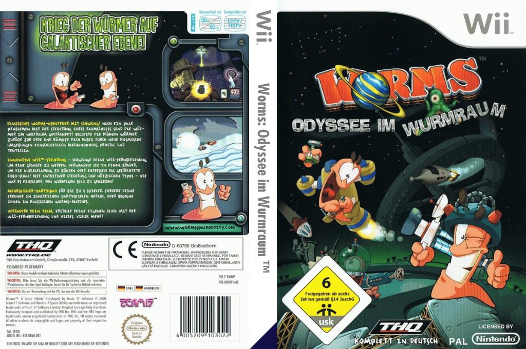 Worms: Odyssee im Wurmraum Wii coverfullHQ (RWMP78)