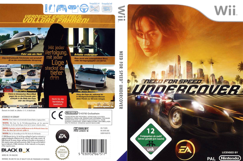 Need for Speed: Undercover Wii coverfullHQ (RX9X69)
