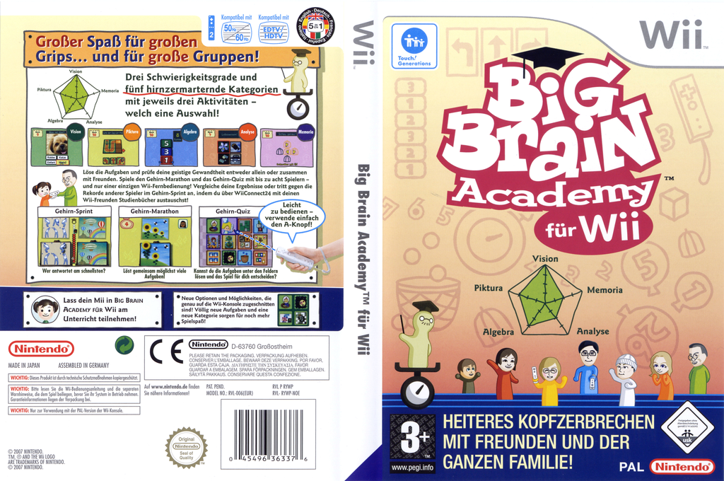 Big Brain Academy für Wii Array coverfullHQ (RYWP01)