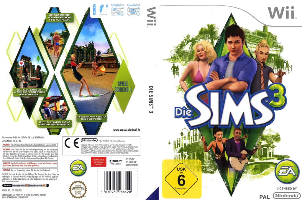 Die Sims 3 Wii coverfullHQ (S3MP69)