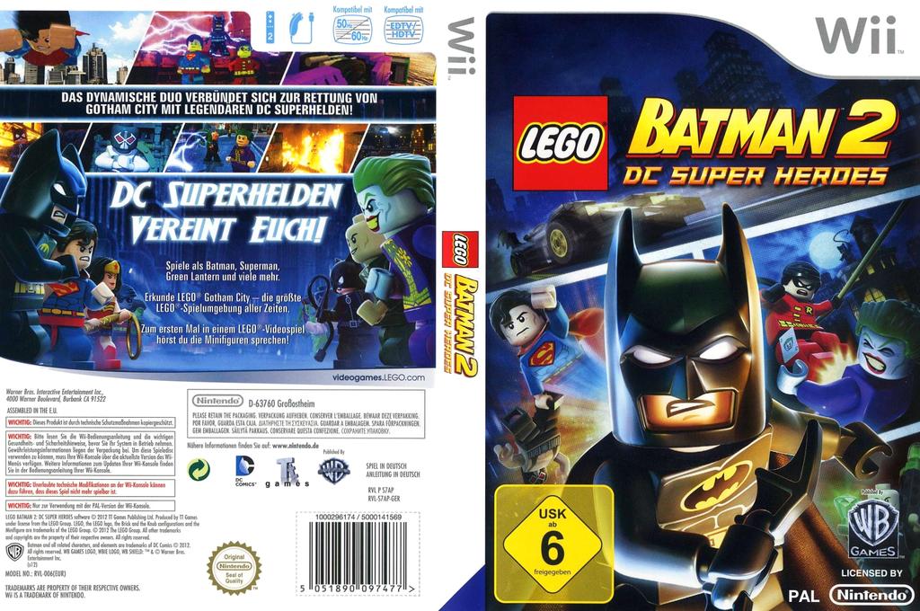 LEGO Batman 2: DC Super Heroes Wii coverfullHQ (S7APWR)