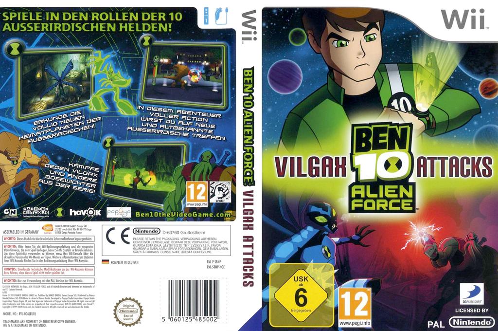 Ben 10: Alien Force: Vilgax Attacks Wii coverfullHQ (SBNPG9)