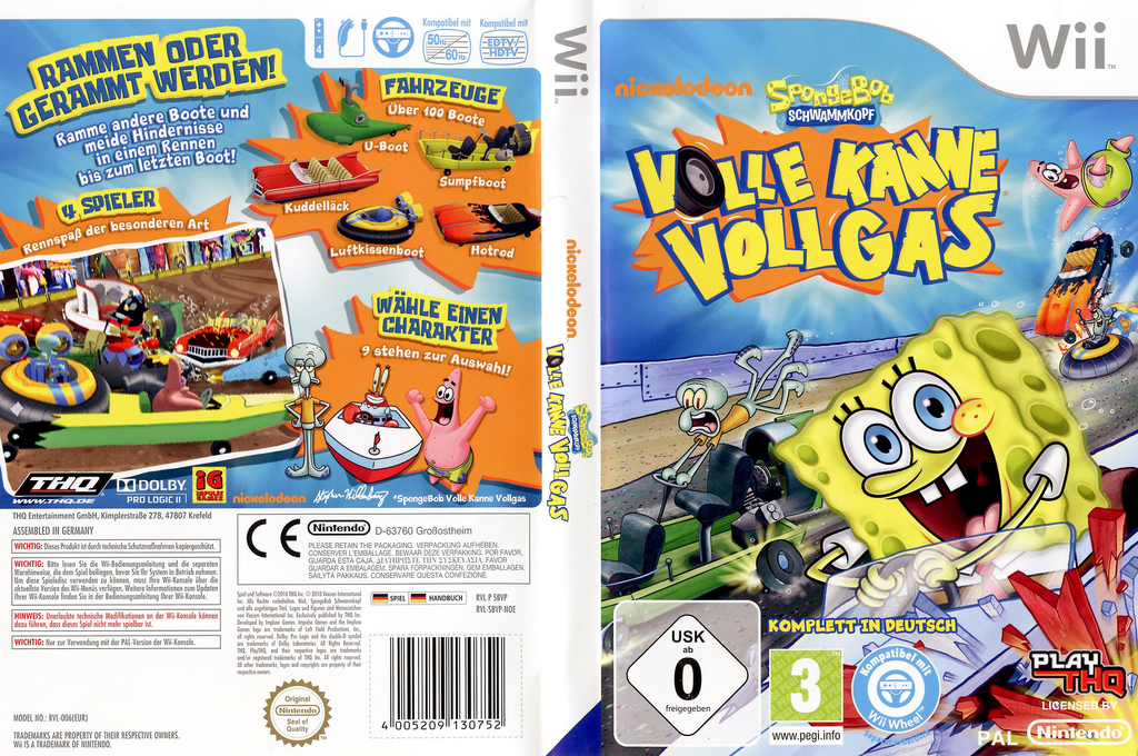 SpongeBob Schwammkopf: Volle Kanne Vollgas Wii coverfullHQ (SBVP78)