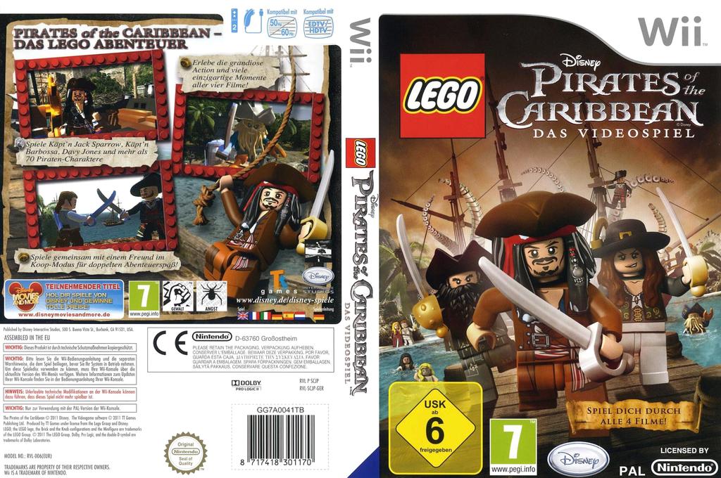 LEGO Pirates of the Caribbean:Das Videospiel Wii coverfullHQ (SCJP4Q)