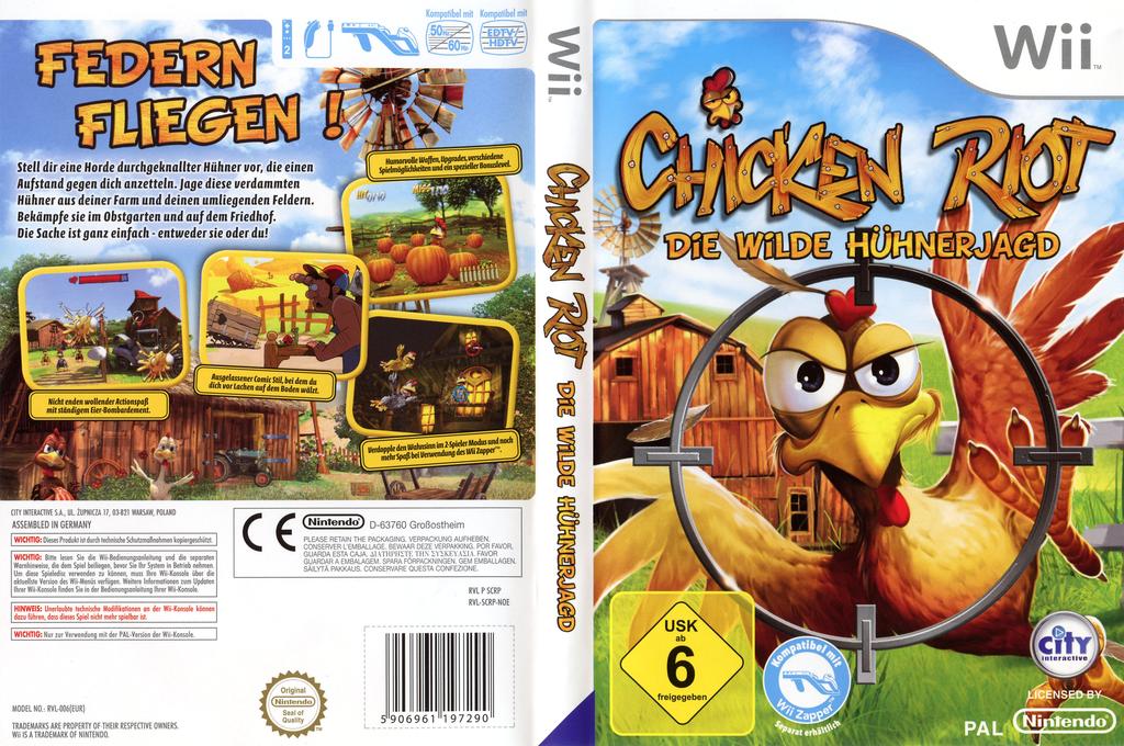 Chicken Riot: Die wilde Hühnerjagd Wii coverfullHQ (SCRPJH)
