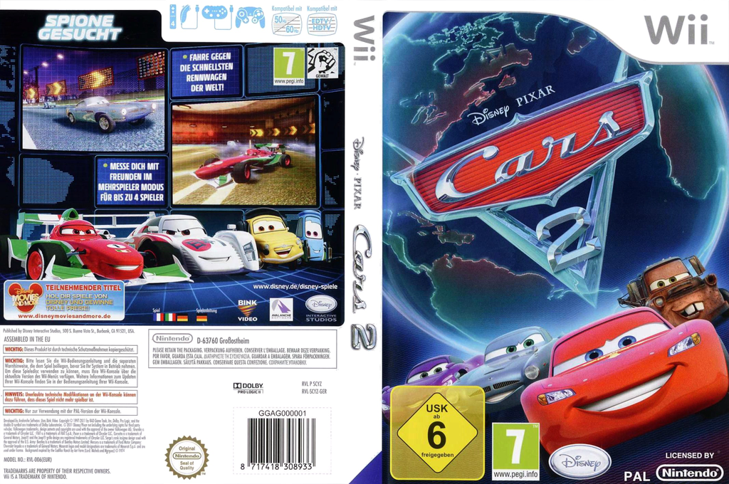 Cars 2: Das Videospiel Wii coverfullHQ (SCYZ4Q)